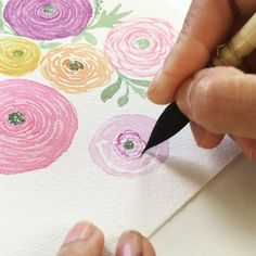 Painting ranunculus can be intriguing yet captivating. I always try to make everything simple when it comes to watercolor painting. Because it's all about enjoying the process. Here's 3 ways how to simplify ranunculus. Tools : -Raphael brush no.2. -Isabey 6234 petit gris no.1. -Arches cold press watercolor paper 140lb/300gsm -Winsor&Newton Cotman Water Colours. #ditutsketchbook #watercolor #watercolorvideo #flowerpainting #tutorial