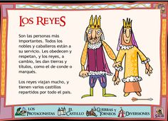 Kings & Queens - this is in Spanish: need it translated, someone. Medieval World, Medieval Knight, Bilingual Classroom, Ap Spanish, Spanish Language, World History, Middle Ages, Social Studies, Geography