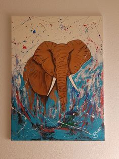 elefant Moose Art, Animals, Painting, Instagram, Art, Art Paintings, Art Pieces, Animales, Animaux
