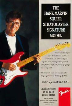 Hank marvin Fender Guitars, Gretsch, Guitar Rack, Cool Guitar, Gibson Les Paul Tribute, Fender Squire, Hank Marvin, Sir Cliff Richard, Electric Guitars