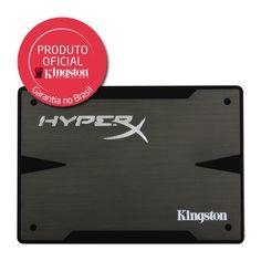 KaBuM! - SSD Kingston HyperX 2.5´ 480GB 3K SATA III Leituras: 540MB/s, Gravações: 450MB/s SH103S3B/480G  R$ 1.500