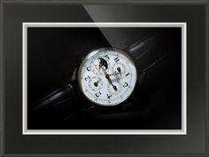 "Breguet Moonphase Triple Calendar Swiss Watch // Paper: enhanced matte; Glazing: acrylic; Moulding: black, palladio antique black; Top Mat: black/gray, natural black; Middle Mat: white/cream, canvas; Bottom Mat: black/gray, granite // Price starts at $154 (Petite: 17.5"" x 20.5""). // Customize at http://www.imagekind.com/Breguet-Moonphase-Triple-Calendar-Swiss-Timepiece_art?IMID=60cf7cc5-000e-433f-9585-738260b6974f"