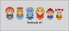 Thundercats - Mini People - Cross Stitch Patterns - Products