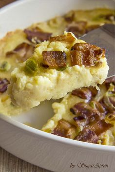 Twice Baked Potatoes Casserole with Cream Cheese, Bacon, and Garlic   Sugar Apron