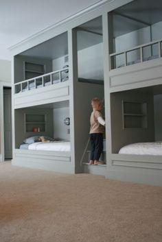 boy bunk room - traditional - bedroom - other metro - findpause_pressplay Bunk Bed Rooms, Bunk Beds Built In, Bunk Beds With Stairs, Bedrooms, Bed Stairs, Bunk Bed Plans, Mini Loft, Bunk Bed Designs, Traditional Bedroom
