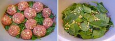 PaleoPot – Pine Nut Meatballs with assorted veggies and spinach – Crock Pot / Slow Cooker Recipe