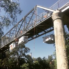 Just another day in #ropeaccess #workingatheights doing some bridge works #petzl #skylotec #capitalsafety #safety
