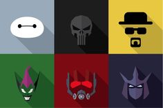 SuperHeroes Masks Flat (Set 10)