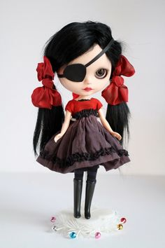 Mab Graves - Her Waifs and Strays — Lucrezia Licorice - custom ooak Blythe art doll by Mab Graves