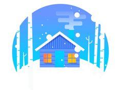 Asana Winter Social Card animation
