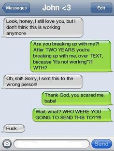 29 Funny Texts Messages Sent to the Wrong Person Funny Text Fails, Funny Text Messages, Break Up Text Messages, Text Memes, Phone Messages, Text Pictures, Funny Pictures, Animal Pictures, Phone Pranks