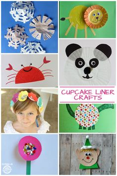 One of my favorite kids activities is cupcake liner crafts. They are always really easy to make and I always have plenty lying around!