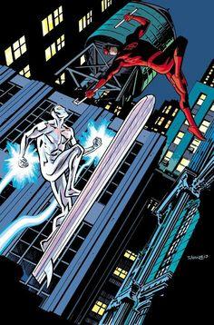Silver Surfer vs. Daredevil by Chris Samnee