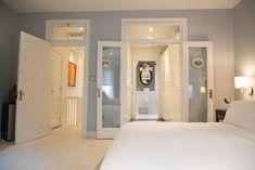 Master bedroom closet bathroom wall colors 33 ideas for 2019 Bedroom Closet Doors, Master Closet, Master Bathroom, Bathroom Closet, Closet Wall, Small Bathroom, Walk Through Closet, Bathroom Wall Colors, Painted Closet