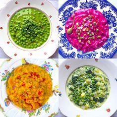 Négy tányér tavaszi főzelék