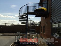 Fire escape, fire escapes, school fire escape, fire escape experts, steel fire escape.