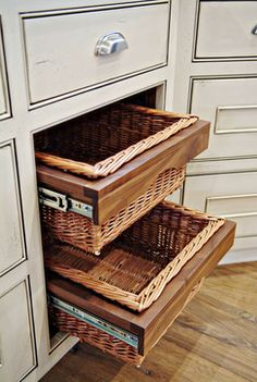 like the basket- drawers and the white ones too!