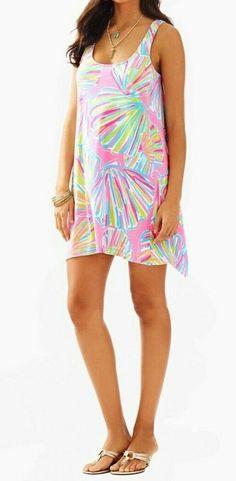 6a8582f351 NEW Lilly Pulitzer Monterey Tank Dress Pink Pout Shellabrate Size: XL  X-Large #