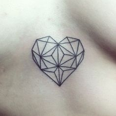geometric heart for elina #tattoo #underboob #heart #geometry #tattoosforwomenunderboob