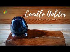 DIY. KERAJINAN RESIN DAN KAYU (DIY CANDLE HOLDER) / RESIN ART - YouTube Diy Candle Holders, Diy Candles, Making Resin Rings, Resin Art, Dan, Wood, Youtube, Woodwind Instrument, Timber Wood