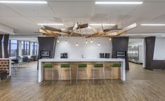 Photography: Joel Zwink/Zwink PhotographyDesigner: ID Studios, Inc. Education Architecture, Light Architecture, Residential Architecture, Architecture Design, Office Interior Design, Office Interiors, Led Recessed Downlights, Office Break Room, Commercial Office Design
