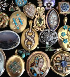 Antique Lockets and Pins