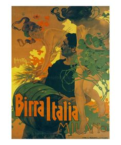 Birra Italia Milano, Art print