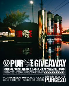 Enter for a chance to win some Purge Mods gear!