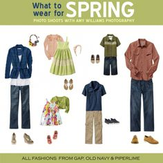Family Photo What to Wear | What to Wear for Spring Photo Shoots | Amy Williams Photography