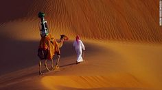 """When it came to creating a """"Street View"""" of a desert, Google hit on a low-tech solution. It hired a camel. The beast has become the first animal to carry Google's Trekker camera, which is typically hoisted by humans to capture 360-degree images of destinations inaccessible to its Street View cars. Google spokeswoman Monica Baz says the camel, reportedly named Raffia, was an apt way of documenting the beautiful shifting sands of Abu Dhabi's Liwa Oasis."""