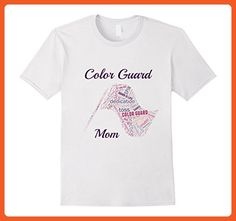 Mens Color Guard Mom Flag Word Mosaic Novelty Colorguard T-Shirt 2XL White - Relatives and family shirts (*Partner-Link)