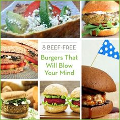 Mix up your next party with these healthy beef-free burger recipes that will leave your tastebuds happy and healthy!