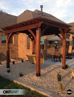 OZCO Building Products OWT Ornamental Wood Ties Pergola Freestanding With  Swing