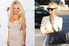 """So long, flowing locks! America's favorite """"Baywatch"""" beach babe, Pamela Anderson, debuted a drastic new look in L.A. Wednesday when she stepped out sporting a close-cropped pixie haircut."""