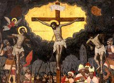 Στις ώρες των Παθών του Σωτήρος Ιησού, στις ώρες του Πένθους.