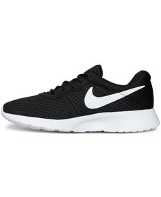 b89bf3d806a Nike Women s Tanjun Casual Sneakers from Finish Line - Black 7