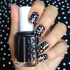 Colorful Polka Dot   Stunning New Years Day Nail Designs