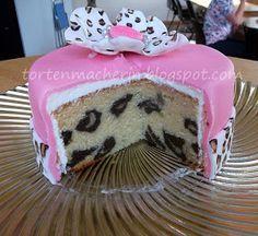 Die Tortenmacherin: Leopardenprint im Biskuit oder wie kommt der Leopard in die Torte?