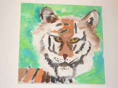 acrylic on canvas painted by a child in Emma's Art Room Surface Pattern Design, Textile Design, Crafts To Make, Canvas, Children, Room, Painting, Fictional Characters, Art