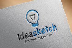 Idea Sketch Logo by BDThemes Ltd on Creative Market