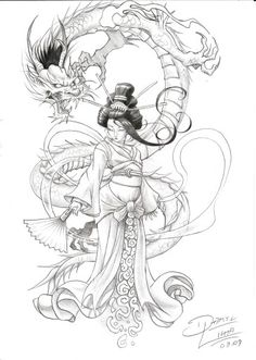Geisha Dragons