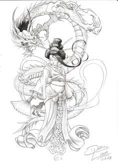 Geisha Dragons