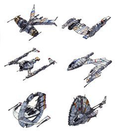 Continuation of the Star Wars Alphabet Wings theme! Nave Star Wars, Star Wars Rpg, Star Wars Ships, Star Wars Clone Wars, Star Wars Concept Art, Robot Concept Art, Star Wars Fan Art, Spaceship Art, Spaceship Design