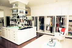 Now that's a closet. Right?! @Barbara Griffin MAX AZRIA www.thecoveteur.com/lubov_azria