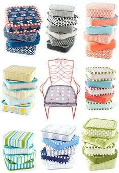 I am very much in love with these outdoor cushions from Doug&Gene Meyer –can you blame me? Cheery, bold, bright and in palates for every color scheme imaginable, I want a stack for my backyard for the next soiree. So fancy and fun. I think I'd pick the coral/turquoise stack– you?