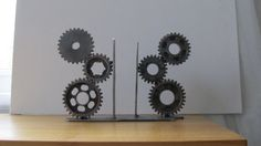 Motorcycle Gear Bookends Desk Accessory by TabDesign on Etsy