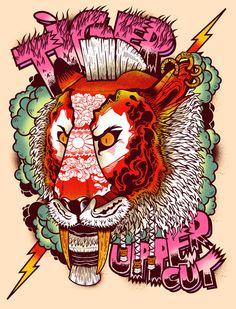 T-Shirt Illustrations by Leigh Flurry Art Pop, Lion Illustration, Tiger Art, Fantastic Art, Illustrations And Posters, Love Art, Art Images, New Art, Vector Art