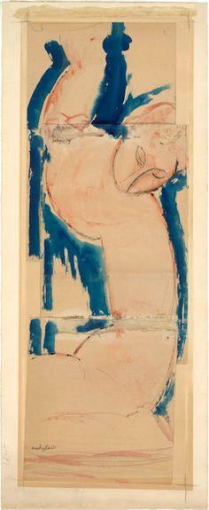 Amedeo Modigliani (Italian, 1884-1920) Caryatid: Rose and Blue (1912–14)