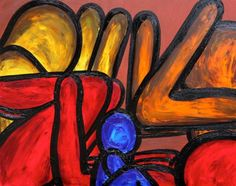 THE WOMANISER By Francesco Ruspoli OIL ON CANVAS Size : 76 x 61 x 2 cm more art pieces on www.passionartly.com