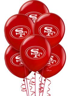 San Francisco 49ers Balloons 12in 6ct